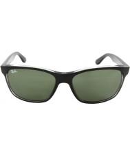 RayBan Rb4181 57 highstreet top preto fosco na trasp cinza 6130 óculos de sol
