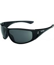 Bolle Highwood brilhantes pretas polarizada TNS óculos de sol