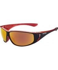 Bolle Highwood brilhantes vermelhos óculos de fogo TNS polarizada preto