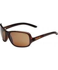 Bolle Kassia brilhante de chocolate óculos arma de arenito polarizada