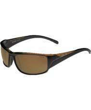 Bolle Keelback brilhante marrom polarizada ag-14 óculos de sol
