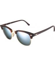 RayBan Rb3016 51 areia Clubmaster concha de tartaruga-de ouro 114530 prata óculos de sol espelho