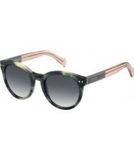 Tommy Hilfiger Ladies th 1291-ns MBR 9o verde óculos de sol rosa havana