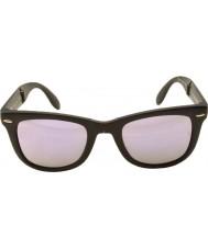 RayBan Rb4105 50 dobrar wayfarer fosco 601s4k preto lilás óculos de sol espelhados