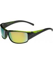 Bolle Keelback pretas brilhantes óculos polarizados esmeralda verde marrom