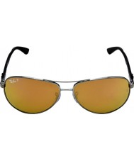 RayBan Rb8313 tech carbon fiber gunmetal - espelho dourado
