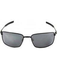 Oakley Oo4075-01 fio quadrado preto polido - óculos de sol de irídio preto
