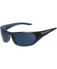 Bolle Blacktail pretas brilhantes azuis polarizadas óculos de sol azuis no mar