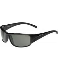 Bolle modulador preto Keelback brilhante óculos polarizados cinza