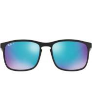 RayBan Rb4264 58 tecnologia chromance preto fosco 601sa1 óculos de flash azul polarizados