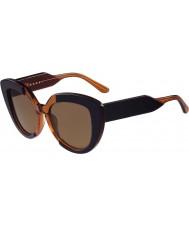Marni me601s senhoras azuis e óculos de sol laranja