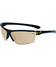 Cebe Cinetik grandes óculos de sol amarelos pretos brilhantes