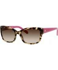 Kate Spade New York Senhoras Johanna-s FRy y6 óculos de sol havana-de-rosa