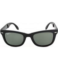 RayBan Rb4105 50 dobráveis wayfarer preto 601-58 óculos polarizados