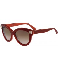 Valentino Senhoras v695s óculos de sol vermelhos inglês