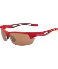 Bolle Parafuso s brilhantes modulador óculos de sol vermelhos golfe v3