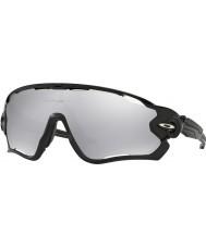 Oakley óculos irídio cromo ventilados - Oo9290-19 jawbreaker polido preto