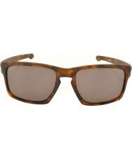 Oakley Oo9262-03 lasca fosco concha de tartaruga marrom - óculos de sol cinza quente