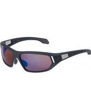 Bolle Cervin cetim cinza escuro aumentou óculos de sol azuis