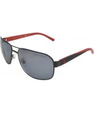 Polo Ralph Lauren Ph3093 62 vida casual Matt Black 927781 óculos polarizados