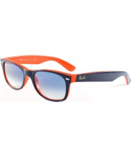 RayBan Rb2132 52 nova wayfarer top azul-laranja 789-3f óculos de sol