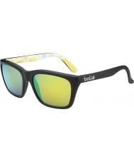 Bolle 527 retro coleção matt gráficos pretos óculos polarizados esmeralda marrom