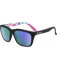 Bolle 527 retro coleção matt gráficos pretos óculos polarizados azul-violeta