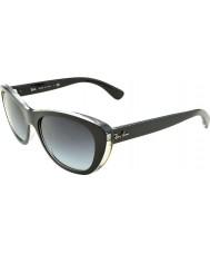 RayBan Rb4227 55 highstreet top preto mate em transparente 60528g óculos de gradiente