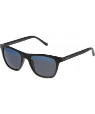 Police Mens hot 1 s1936v-u28b preto mate espelhado óculos de sol azuis