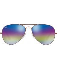 RayBan RB3025 58 aviador grande de metal óculos de sol bronze escuro 9019c2