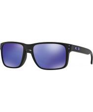 Oakley Oo9102-26 Holbrook Wilson juliano preto fosco - óculos de sol violeta irídio