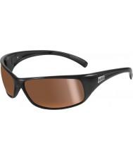 Bolle Recoil brilhantes pretas polarizadas interior óculos de sol de ouro