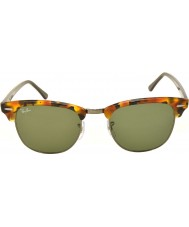 RayBan Rb3016 51 Clubmaster manchado preto havana 1157 óculos de sol
