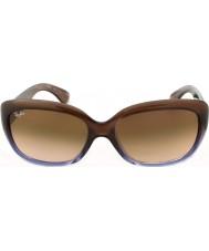 RayBan Rb4101 58 Jackie gradiente ohh marrom lilás 860-51 óculos de sol