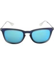 RayBan Rb4221 50 jovem tiro de borracha azul 617055 óculos de sol