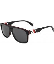 Cebe Chicago preto vermelho 1500 óculos de sol espelho de flash cinza