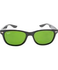 RayBan Junior Rj9052s 47 novos wayfarer brilhantes pretas 100-2 óculos de sol