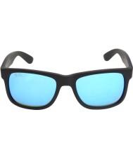 RayBan Rb4165 justin preto - espelho azul