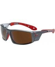 Cebe Ice 8000 cinza escuro óculos de sol vermelhos