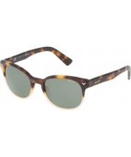 Police mestre dos homens 4 spl143-0z40 óculos de sol brilhantes havana