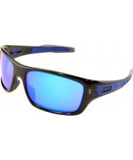 Oakley turbina Oo9263-05 tinta preta - óculos de safira de irídio