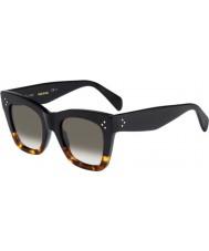 Celine Ladies cl 41090-s fu5 Z3 óculos de tartaruga pretos