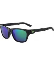 Cebe Hacker preto brilhante verde 1500 cinzenta do flash espelho óculos de sol verdes