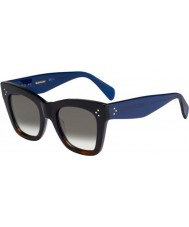 Celine Ladies cl 41090-s QLT Z3 preto havana óculos de sol azuis
