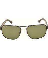 RayBan óculos de sol Rb3530 58 highstreet gunmetal 002-9a polarizados