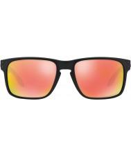 Oakley Oo9102-51 Holbrook preto fosco - rubi irídio óculos polarizados