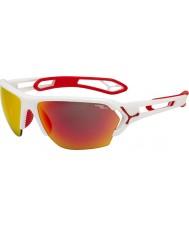Cebe S-track grande mate óculos de sol vermelhos brancos