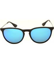 RayBan Rb4171 54 Erika preto 601-55 azul óculos de sol espelhados
