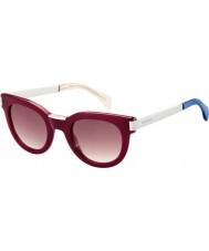 Tommy Hilfiger Ladies th 1379-S QEI xk Borgonha óculos de sol de paládio