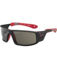 Cebe Ice 8000 matt óculos de sol de pico variochrom preto vermelho